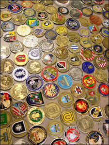 CED Solutions collection of Unit Challenge Coins brought to us by our students
